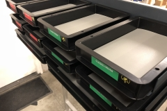 ESD Trays with optional ESD rubber inlay